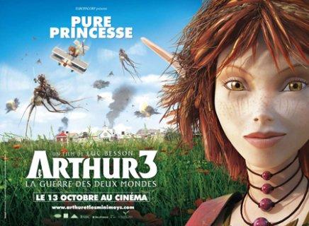 Arthur et la guerre des deux mondes en trois affiches