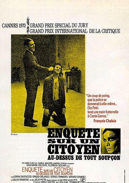 Critique du film Enquête sur un citoyen au-dessus de tout soupçon