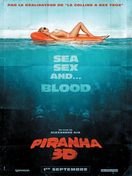 Piranha 3D : l'affiche française rend hommage à Jaws !
